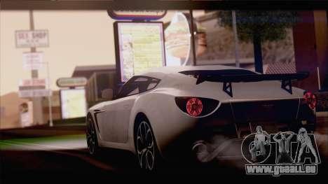 Aston Martin V12 Zagato 2012 [IVF] pour GTA San Andreas sur la vue arrière gauche