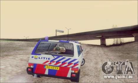 Volkswagen T4 Politie für GTA San Andreas obere Ansicht
