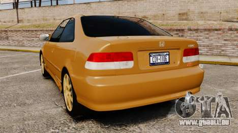Honda Civic Si 1999 pour GTA 4 Vue arrière de la gauche