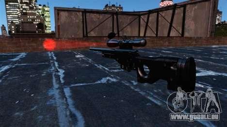 Fusil de sniper AI Arctic Warfare Magnum pour GTA 4 troisième écran