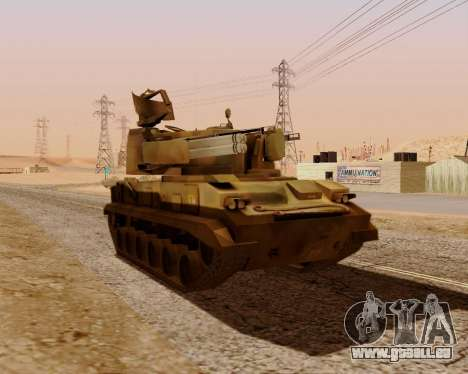 2S6 Tunguska für GTA San Andreas rechten Ansicht