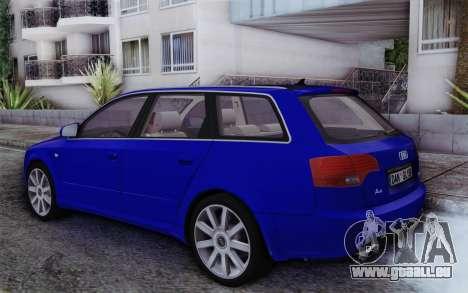 Audi A4 2005 Avant 3.2 Quattro Open Sky pour GTA San Andreas laissé vue