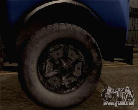 MAZ 504 a pour GTA San Andreas sur la vue arrière gauche