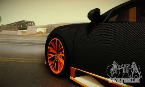 Bugatti Veyron Super Sport World Record Edition für GTA San Andreas Rückansicht