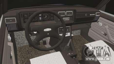 VAZ-2107 (LADA 2107) pour GTA 4 est une vue de l'intérieur