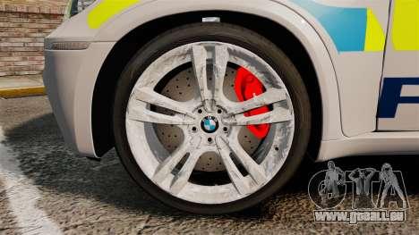 BMW X5 Police [ELS] pour GTA 4 Vue arrière