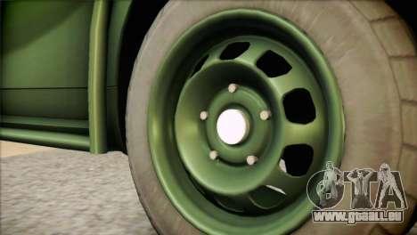 Dacia Duster Army Skin 1 pour GTA San Andreas sur la vue arrière gauche