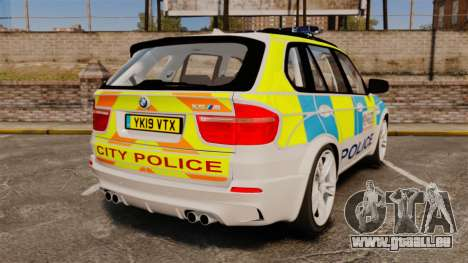 BMW X5 City Of London Police [ELS] für GTA 4 hinten links Ansicht