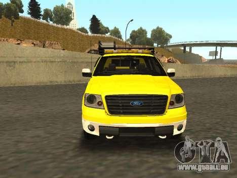 Ford F-150 pour GTA San Andreas sur la vue arrière gauche
