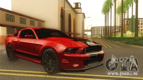 Ford Shelby GT500 2013 pour GTA San Andreas laissé vue