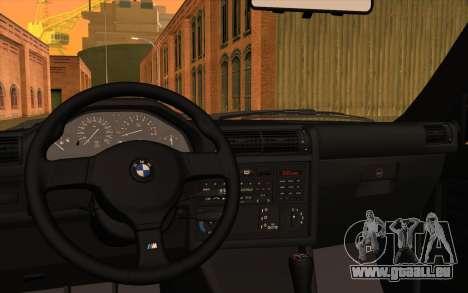 BMW M3 E30 Stock Version pour GTA San Andreas vue intérieure
