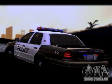 Ford Crown Victoria 2005 Police für GTA San Andreas obere Ansicht