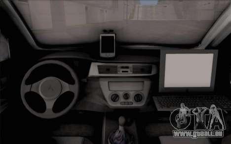 Mitsubishi Lancer Evolution IIIX für GTA San Andreas Rückansicht