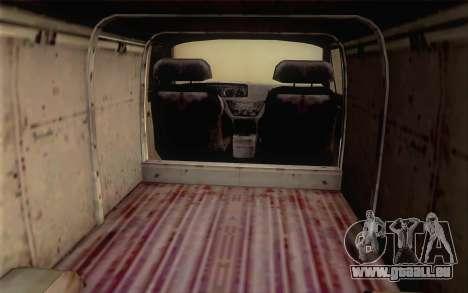 Dodge RAM Van 1500 pour GTA San Andreas sur la vue arrière gauche