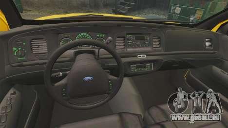 Ford Crown Victoria 1999 LCC Taxi für GTA 4 Rückansicht