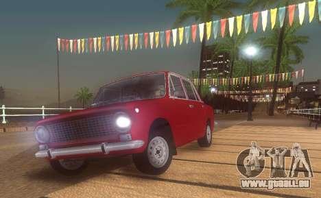 Fiat 124 pour GTA San Andreas laissé vue