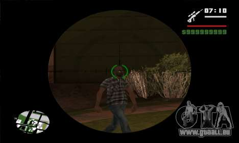 GTA V Sniper Scope für GTA San Andreas fünften Screenshot