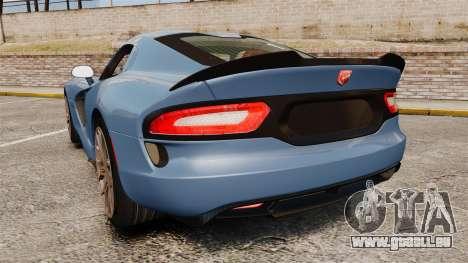 Dodge Viper SRT TA 2014 Rebuild für GTA 4 hinten links Ansicht