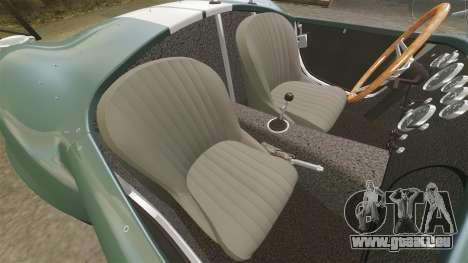 Shelby Cobra 427 SC 1965 pour GTA 4 est une vue de l'intérieur
