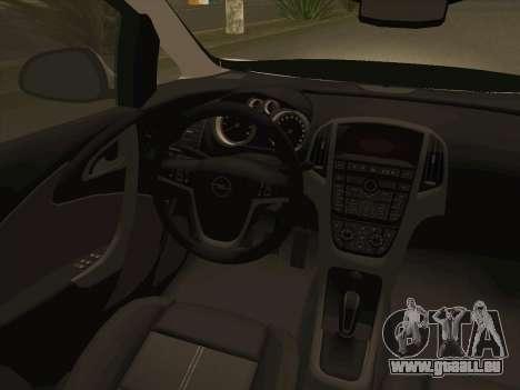 Opel Astra J 2011 für GTA San Andreas obere Ansicht