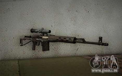 7,62 Scharfschützengewehr Dragunov SVD-s für GTA San Andreas