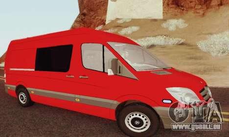 Mersedes-Benz Sprinter für GTA San Andreas Rückansicht