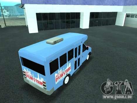 Ford Shuttle Bus pour GTA San Andreas vue de dessus