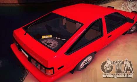 Toyota Corolla GT-S 1985 pour GTA San Andreas vue de côté