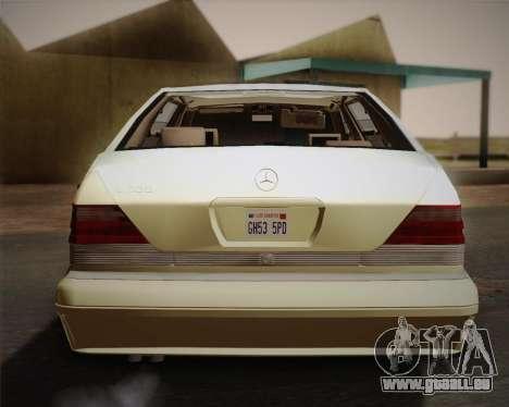 Mercedes-Benz S600 V12 Custom pour GTA San Andreas vue de côté