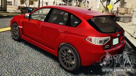 Subaru Impreza WRX STi 2010 für GTA 4 rechte Ansicht