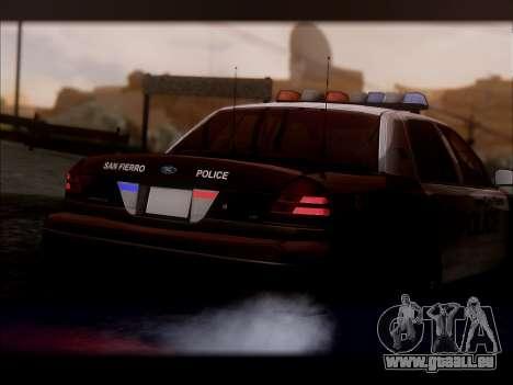 Ford Crown Victoria 2005 Police für GTA San Andreas rechten Ansicht