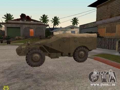 BTR-40 pour GTA San Andreas laissé vue