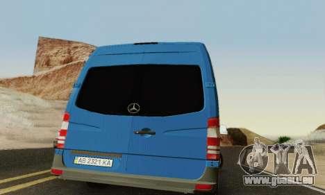 Mersedes-Benz Sprinter für GTA San Andreas Seitenansicht
