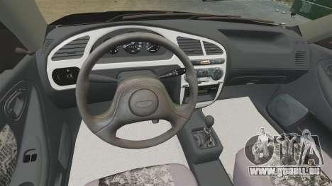 Daewoo Lanos Style 2001 Limited version für GTA 4 Innenansicht