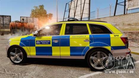 Audi Q7 Metropolitan Police [ELS] pour GTA 4 est une gauche