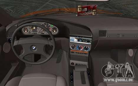 BMW 325i E36 Convertible 1996 pour GTA San Andreas sur la vue arrière gauche