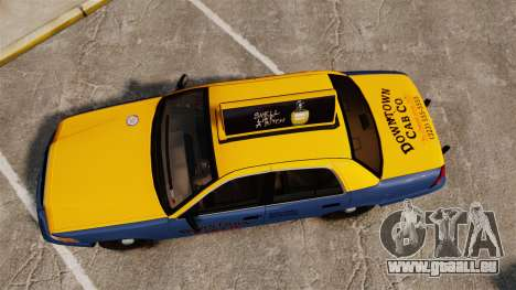 Ford Crown Victoria 1999 GTA V Taxi pour GTA 4 est un droit
