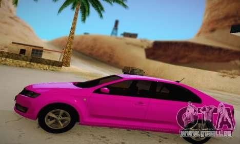 Skoda Rapid 2014 pour GTA San Andreas laissé vue