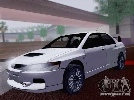 Mitsubishi Lancer Evo IX MR Edition für GTA San Andreas Rückansicht