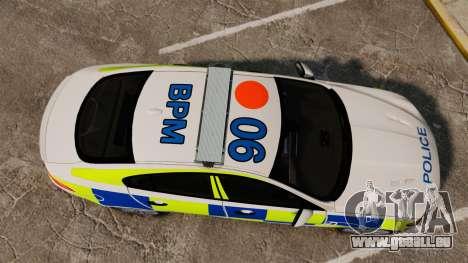 Jaguar XFR 2010 British Police [ELS] für GTA 4 rechte Ansicht