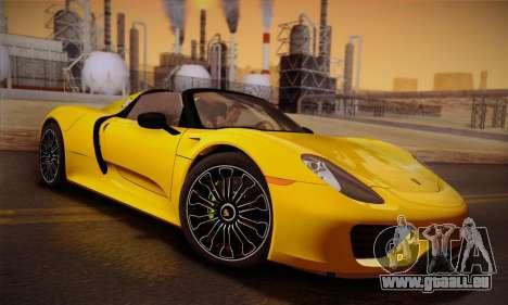 Porsche 918 Spyder 2014 für GTA San Andreas