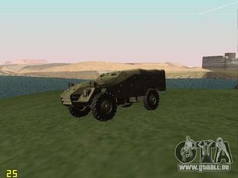 BTR-40 pour GTA San Andreas vue arrière