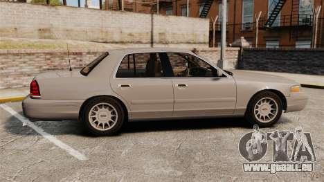 Ford Crown Victoria 1999 pour GTA 4 est une gauche