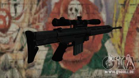 Snajperckaâ fusil noir pour GTA San Andreas deuxième écran