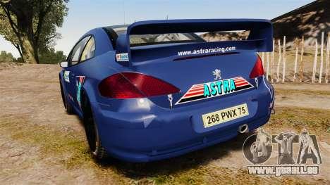 Peugeot 307 WRC pour GTA 4 Vue arrière de la gauche