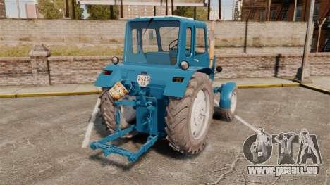 Traktor MTZ-80 für GTA 4 hinten links Ansicht