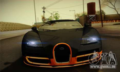 Bugatti Veyron Super Sport World Record Edition für GTA San Andreas Innenansicht