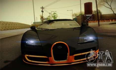 Bugatti Veyron Super Sport World Record Edition pour GTA San Andreas vue intérieure