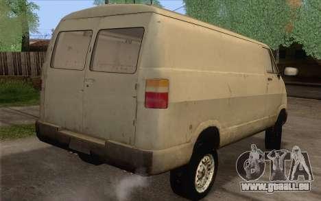 Dodge RAM Van 1500 pour GTA San Andreas laissé vue