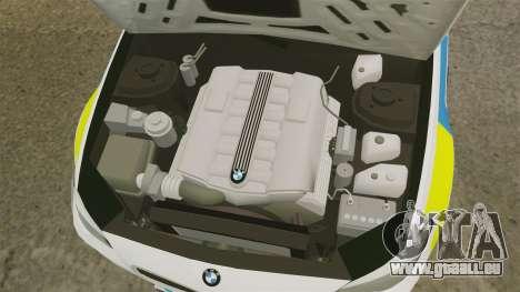 BMW M5 Marked Police [ELS] pour GTA 4 est une vue de l'intérieur